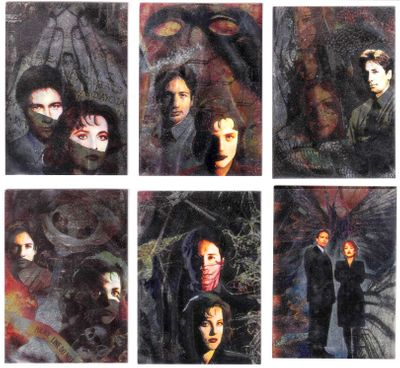X-Files Topps Season 1 complete Etched Foil 6 card set