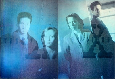 X-Files Topps Season 2 Hologram cards X1 and X4