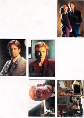 X-Files Season 1 Topps silver foil parallel partial set (53 different cards out of 72)