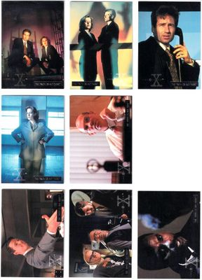 X-Files Season 2 Topps silver foil parallel partial set (32 different cards out of 72)
