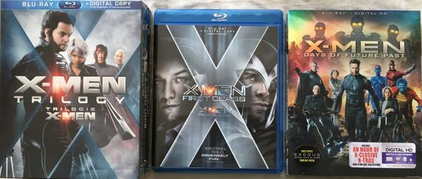 X-Men Trilogy First Class Days of Future Past set of 5 movies on Blu Ray DVDs LIKE NEW