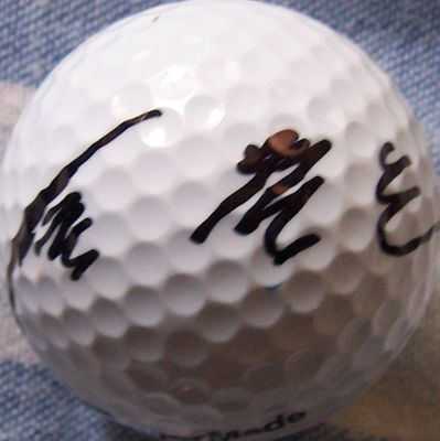 Y.E. Yang autographed golf ball
