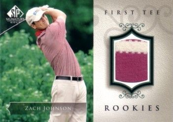 Zach Johnson 2004 SP Signature golf First Tee Rookies tournament worn shirt card