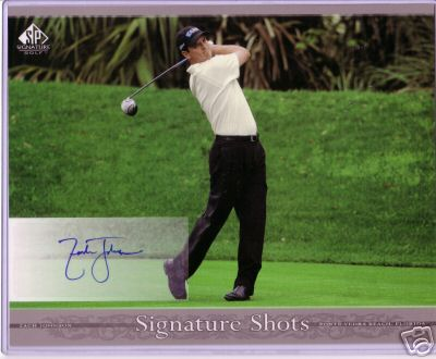 Zach Johnson certified autograph 8x10 SP Signature Golf photo card