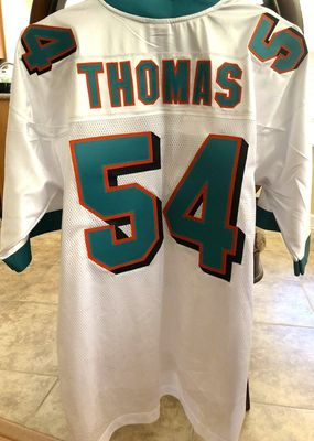 Zach Thomas Miami Dolphins 2001 to 2007 authentic Reebok stitched white XL jersey NEW