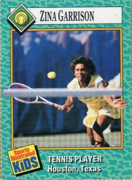 Zina Garrison 1989 Sports Illustrated for Kids card