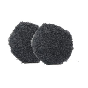 """Buff and Shine Thick Grey Uro-Wool Blended Pad - 3.125"""" (2 Pack)"""