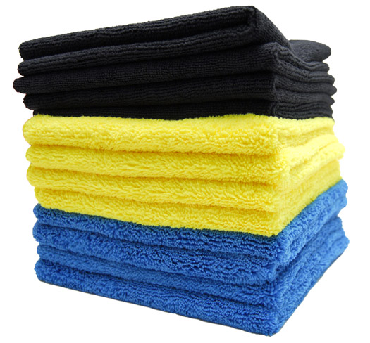 Color-Coded Microfiber Bulk Detailing Towels