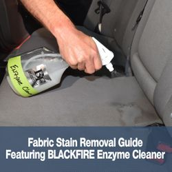 Fabric Stain Removal Guide - Featuring BLACKFIRE Enzyme Cleaner