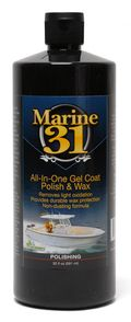 Marine 31 All-In-One Gel Coat Polish & Wax 32 oz.