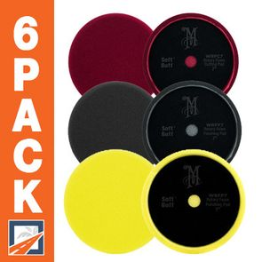 Meguiars Soft Buff 2.0 7 Inch Foam Pads 6 Pack