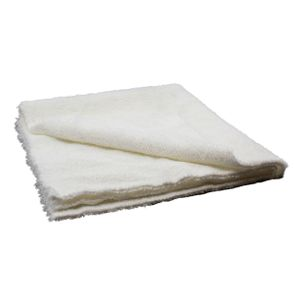White Edgeless Polishing Microfiber Towel
