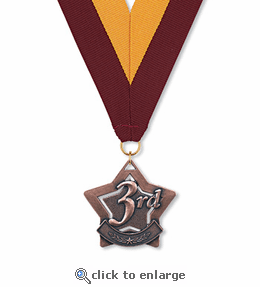 No. 10403 3rd Place Star Medallion