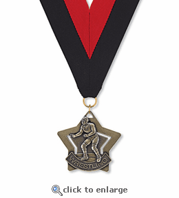 No. 10408 Wrestling Star Medallion