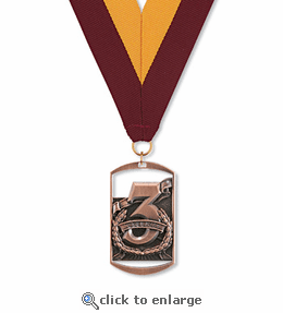 No. 10442 3rd Place Dog Tag Medallion