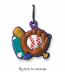 No. 10502 Baseball ColorFlex Zipper Pull