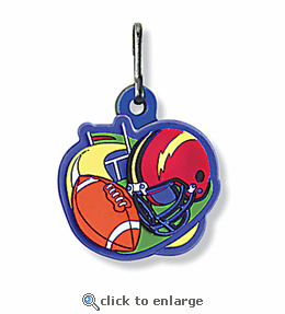 No. 10506 Football ColorFlex Zipper Pull