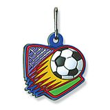 No. 10509 Soccer ColorFlex Zipper Pull