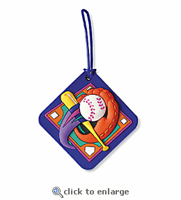 No. 10532 Baseball ColorFlex Bag Tag