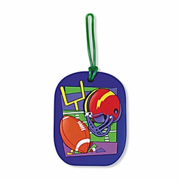 No. 10535 Football ColorFlex Bag Tag