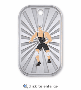 No. 10562 Wrestling Dog Tag