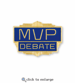 No. 184 M V P Debate Pin