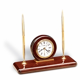 No. 613-588 Rosewood Desk Set Clock