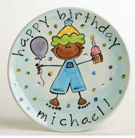 birthday boy plate
