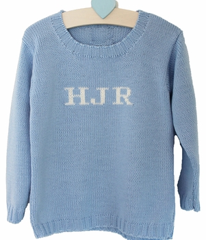 boys monogrammed sweater
