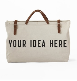 custom text weekender tote- YOUR Design
