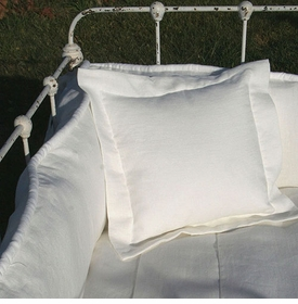 custom white linen crib linens set