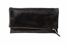 foldover fur clutch