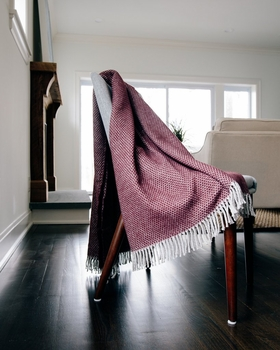 fringed throw blanket - rice pattern<br> (several colors available)