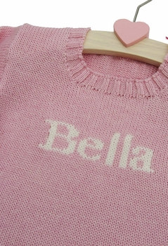 girl's personalized name sweater