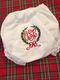 Heirloom Embroidered Monogram Christmas Bloomers  / Diaper Covers