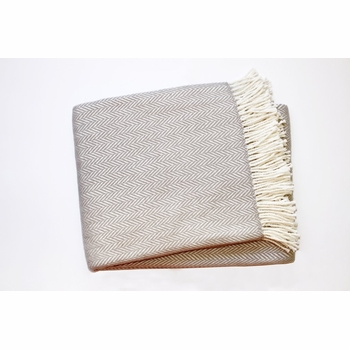 herringbone fringed throw (several colors available)