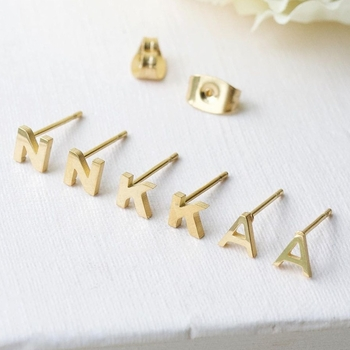 little letter earring