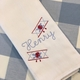 Monogrammed Airplane Embroidered Burp Cloth