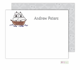 personalized - ahoy matey flat notes