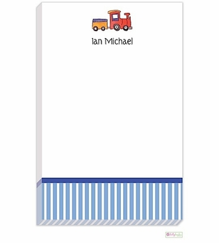 personalized - all aboard notepad