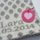 personalized baby blanket - dots