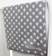 personalized baby blanket with grey stars