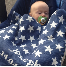 personalized baby boy stars blanket