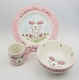 personalized baby bunny 3 piece dish set