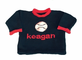 personalized baseball name sweater