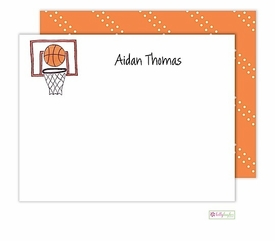 personalized - basketball star flat notes