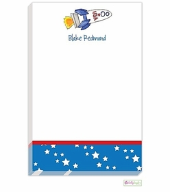 personalized - blast off notepad