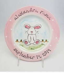 personalized bunny baby plate