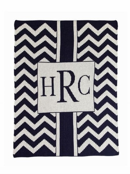 personalized chevron with box blanket
