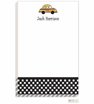 personalized - city cab notepad